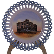 Fergus Falls, Minn.The Manhattan Building Souvenir Plate ~ Early 1900's ~