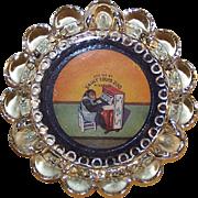 Lieberchimpski Glass Ashtray Souvenir ~St. Louis, MO Zoo ~ Mid Century