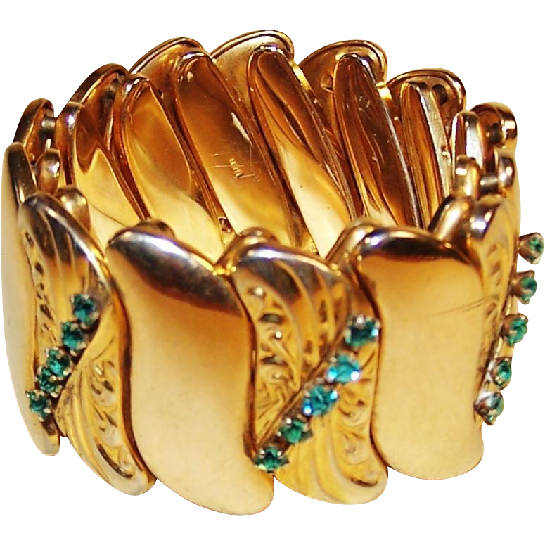 Art nouveau cuff bracelet by bugbee niles expandable for Bugbee and niles jewelry