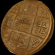 Antique Hand Carved Wood Eucharistic Bread Stamp, Christian Symbols Communion
