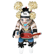 Hopi Tewa Koshare, Seated Hano Clown Kachina, with Watermelon, Fletcher Healing