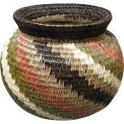 Vintage Wounaan Embera Basket, with Spiral Pattern (#4)