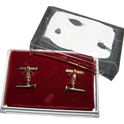 Vintage Hickok USA  Golf Tee Cufflinks in Box