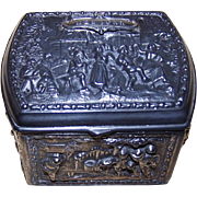 New York Souvenir Repousse Trinket Box Early 1900's Jennings Bros.