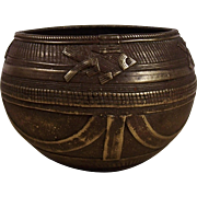 Antique Brass Offering Bowl, India, 18th Century