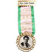 1922 Odd Fellows IOOF Rebekah Assembly Past Noble Grand Badge ~ Lydia Waugh ~