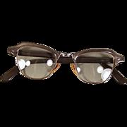 Retro Vintage Bausch & Lomb 12K GF Grey Pearl Eyeglass Frames