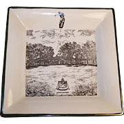 Absecon, New Jersey 1957 Seaview Golf Course Souvenir Plate By L. E. Larzelere