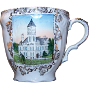 Grundy Center, IA Grundy Cty Courthouse Souv Cup Wheelock Austria Early 1900's