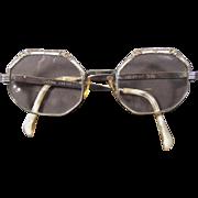 Mid Century 12K GF Eyeglasses Frames with Rhinestones