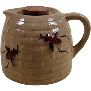 Vintage Yellowware Bee Hive Honey Pot Pitcher