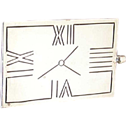 Funky Vintage Taxco Sterling Clock Pin
