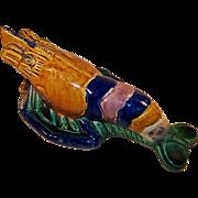 Antique Chinese Majolica Crayfish Wall Vase