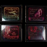 Magic Lantern Slides Set of 4 Art Deco Advertising  ~Detroit ~ Hagginwood Floral