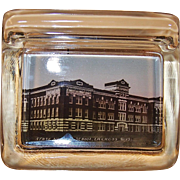 La Crosse, Wis.Souvenir Glass Pen Holder ~ State Normal School ~Early 1900's