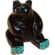 Bear Fetish with Turquoise Paws and Eyes ~ Signed
