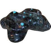 Serpentine Frog Fetish with Turquoise