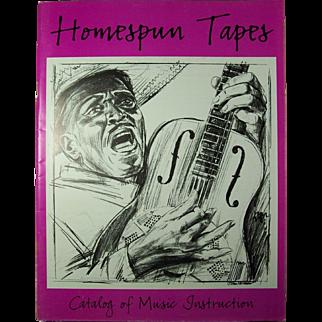 1986 Homespun Tapes  - Catalog of Music Instruction - Woodstock, New York