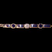 Vintage Fraternity Bracelet  L.G. Balfour Co Orig. Box Gamma Sigma Pi Letters