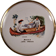 Bend, Oregon Souvenir Dish ~ Howard Chandler Christy~  Canoemates Early 1900's