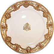"Antique RC Nippon 8.5"" Gold Moriage Plate ~ Royal Crockery~ Excellent Condition"