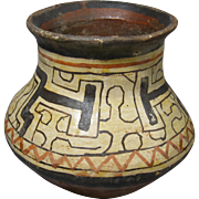 Polychrome Pottery Olla, Shipibo Conibo, Peru, Traditional Geometric Designs