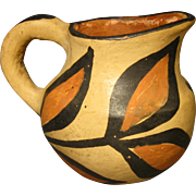 Small Santo Domingo Pottery Pitcher, Leaves and Branches Early 1900's