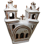 Vintage Mexico Folk Art Pottery Mission, Pottery Church