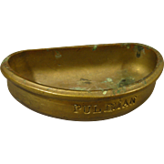 Old Cast Brass Railroad PULLMAN Ashtray, Wall-Mount