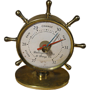 Ship's Wheel Desk Barometer, Advertising - Bellingham Tug & Barge Co.  Circa 1940