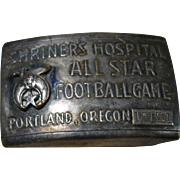 Shriners Hospital All Star Football Game, Portland, Oregon 1951 Belt Buckle