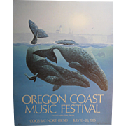 1985 Oregon Coast Music Festival Poster, Signed & Numbered, Don McMichael
