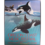 1988 Oregon Coast Music Festival Poster, Signed & Numbered, Don McMichael