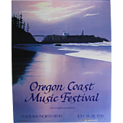 1990 Oregon Coast Music Festival Poster, Signed & Numbered, Don McMichael