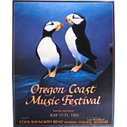 1993 Oregon Coast Music Festival Poster, Signed & Numbered, Don McMichael
