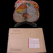 1942 FOLD-O-GLOBE World Globe, Gerald A. Eddy, Montgomery Ward Mailer