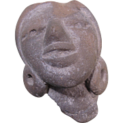 Mesoamerica Artifact - Clay, or Pottery, Face, Pre-Columbian (B)