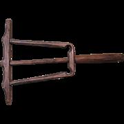 Primitive 18th Century Bent Wood Line Winder Reel