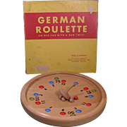"1930s Game ""German Roulette"", with Box, Made in Germany"
