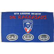 "Vintage Flag 187th Airborne Infantry, The Rakkasans, 34"" by 60"""