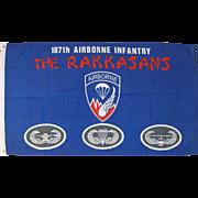 "Vintage Flag 187th Airborne Infantry, The Rakkasans, 34"" by 60"""
