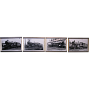 Great Western Railway 1930's - Four Framed Railroad Locomotive Photos