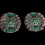 Vintage Sterling Silver Clip On Earrings