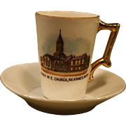Kearney, Nebraska  First Methodist Church  Small Souvenir Cup ~Early 1900s