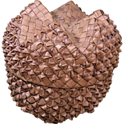 Plaited Basket, Six-Point Star Form on Base & Lid