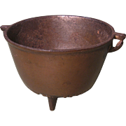 Miniature Cast Iron Pot, Chattanooga Roofing & Foundry Adv., Circa 1900