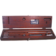 Vintage TUMICO Tubular Micrometer Set in Wood Box, St. James, Minn.