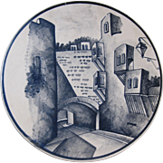 "Vintage Decorated Plate, ""Calle Padre. Padre Belaunzaran, Ceramicz Luna"" Mexico"