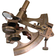 Vintage Brass Sextant - Celestial Navigation Instrument