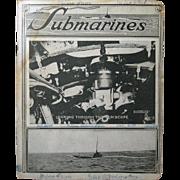 "1918 School Notebook, ""Submarines"", Underwood & Underwood Cover Photo"